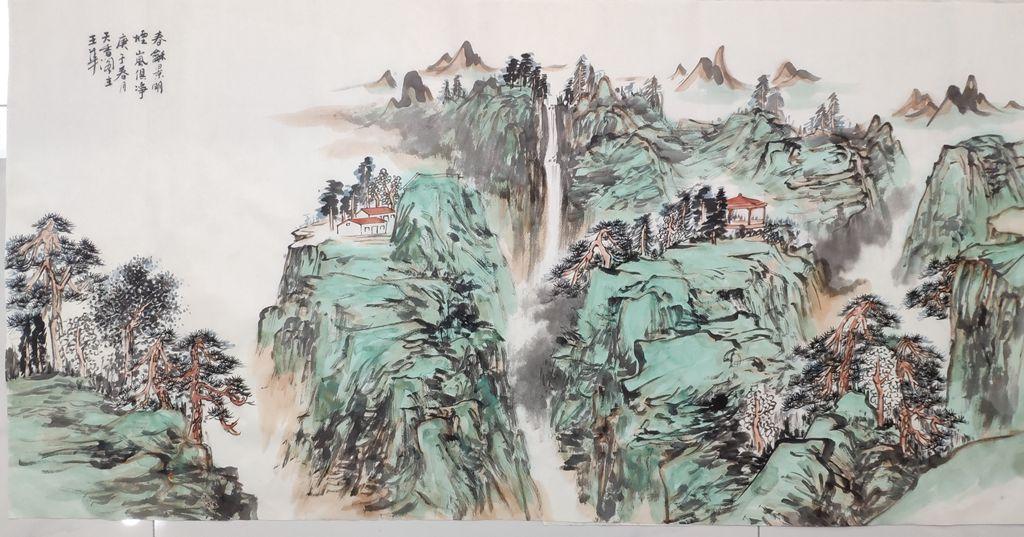 王华-作品名称:春和景明,烟岚俱净;作品种类:国画,作品尺寸136 68cm_副本.jpg